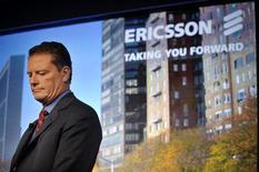 <p>Le directeur général d'Ericsson,Carl-Henric Svanberg. Ericsson et STMicroelectronics ont finalisé leur accord signé en août 2008 qui vise à créer un géant mondial des semi-conducteurs et des plates-formes pour applications mobiles. /Photo prise le 21 janvier 2009/REUTERS/Jessica Gow/Scanpix Sweden</p>