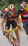 <p>Il ciclista spagnolo Alejandro Valverde Belmonte. REUTERS/Graham Watson/Pool (SPAIN)</p>