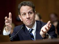 "<p>U.S. Secretary of Treasury Timothy Geithner testifies before the Senate Budget Committee during a hearing on ""Policies to Address the Crises in Financial and Housing Markets"" on Capitol Hill in Washington, D.C., February 11, 2009. REUTERS/Joshua Roberts</p>"