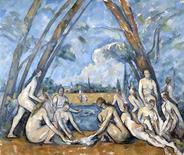 """<p>""""Les Grandes Baigneuses"""" de Paul Cezanne, parte de la muestra """"Cezanne y más allá"""", que se inaugura en el Museo de Arte de Filadelfia el 26 de febrero, 2009. Una nueva exposición sobre Paul Cezanne que podrá verse en Estados Unidos muestra la duradera influencia de las obras del gran pintor francés y el impacto que tuvo en sus contemporáneos y otros artistas. REUTERS/Philadelphia Museum of Art/Handout</p>"""