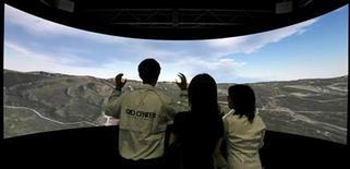 <p>Una proiezione in digitale. REUTERS/Kiyoshi Ota</p>