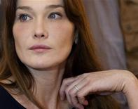 <p>La premiere dame francese Carla Bruni-Sarkozy. REUTERS/Philippe Wojazer</p>