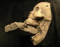 """<p>An undated photo from the University of Florence shows the remains of a female """"vampire"""" from 16th-century Venice. REUTERS/Handout</p>"""