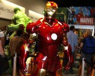 <p>Uno dei super eroi della Marvel REUTERS/Mike Blake</p>