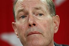 <p>Then Bank of Canada Governor David Dodge listens to a question during a news conference upon the release of the Monetary Policy Report in Ottawa January 24, 2008. REUTERS/Chris Wattie</p>