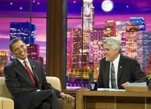 <p>Il presidente Usa Barack Obama al talk show di Jay Leno. REUTERS/Larry Downing (UNITED STATES POLITICS ENTERTAINMENT IMAGE OF THE DAY TOP PICTURE)</p>