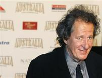 """<p>Actor Geoffrey Rush poses on the red carpet at the world premiere of the film """"Australia"""" in Sydney in this file photo from November 18, 2008. REUTERS/Tim Wimborne</p>"""