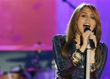 <p>Cantora Miley Cyrus em show em Nova York. 08/04/2009. REUTERS/Brendan McDermid</p>