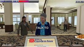 """<p>Trainees interact with guests virtually in """"Ultimate Team Play"""" on PSP, in this undated handout photo. REUTERS/Handout</p>"""