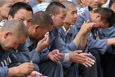 <p>Cina, 15 detenuti morti in carcere da gennaio. REUTERS/China Daily</p>