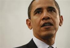 <p>Президент США Барак Обама на встрече с сотрудниками ЦРУ в Лэнгли 20 апреля 2009 года. Президент США Барак Обама предложил выделить МВФ заем в размере $100 миллиардов в рамках обещаний, данных им на саммите G20 в Лондоне, а также призвал развивающиеся страны, такие как Китай и Индию, увеличить свои взносы в средства фонда. REUTERS/Jason Reed</p>