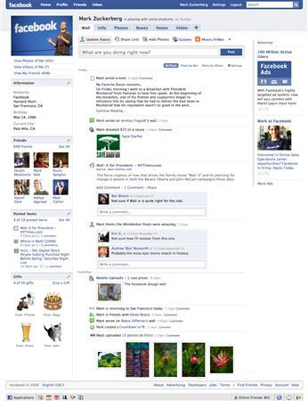 A Facebook profile page is seen in a company handout image. REUTERS/Facebook/Handout
