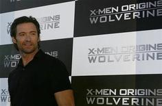 """<p>Australian actor Hugh Jackman poses for a picture during a media event for the movie """"X-Men Origins: Wolverine"""" at Cockatoo island in Sydney in this file photo from April 8, 2009. REUTERS/Daniel Munoz</p>"""