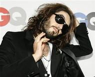 """<p>Actor Russell Brand poses at the 13th annual GQ magazine """"Men of the Year"""" party in Los Angeles November 18, 2008. REUTERS/Mario Anzuoni</p>"""