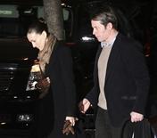 <p>Atriz Sarah Jessica Parker e seu marido, o ator Matthew Broderick, em Nova York. 20/03/2009. REUTERS/Patrick Andrade</p>
