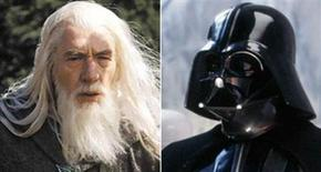<p>Gandalf e Darth Vader in un'immagine dal sito di Hollywood Reporter. REUTERS/Ho</p>