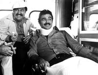 "<p>Actors Dom DeLuise (L) and Burt Reynolds are shown in a scene from their 1981 film ""The Canonball Run"". REUTERS/20th Century Fox/Handout/Files</p>"