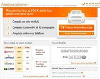 <p>La home page di assicurazione.it. REUTERS/Ho</p>