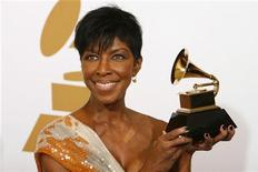 <p>Natalie Cole ai Grammy Awards REUTERS/Mario Anzuoni</p>