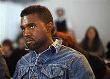 <p>Foto de arquivo do rapper Kanye West na semana da moda em Nova York. 15/02/2009. REUTERS/Eric Thayer</p>