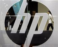 <p>Logo della Hewlett-Packard. REUTERS/Paul Yeung</p>