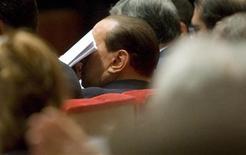 <p>Il presidente del Consiglio Silvio Berlusconi a un evento di Confesercenti a Roma. REUTERS/Remo Casilli</p>