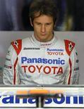 <p>Il pilota della Toyota Jarno Trulli, Barcellona, 8 maggio 2009. REUTERS/Albert Gea</p>