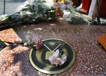 <p>Цветы, возложенные поклониками Дэвида Кэррадайна, на его звезду на Аллее славы в Голливуде 4 июня 2009 года.Смерть актера Дэвида Кэррадайна все еще остается загадкой, поддерживаемой множеством слухов и предположений, как же встретил свою кончину звезда американского кино. REUTERS/Mario Anzuoni</p>