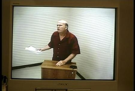 Scott Roeder, charged with killing 67-year-old George Tiller, a Kansas doctor reviled by anti-abortion groups for his work providing ''late-term'' abortions, appears via video in Sedgwick County District Court in Wichita, Kansas, June 2, 2009. REUTERS/KSN TV
