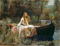 "<p>Pre-Raphaelite artist John William Waterhouse's painting ""The Lady of Shalott"" is seen in this undated handout photograph made available by the Royal Academy of Art in London June 23, 2009. REUTERS/Tate/Handout</p>"