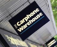 <p>Logo Carphone Warhouse a Londra. REUTERS/Toby Melville (BRITAIN BUSINESS)</p>