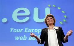 <p>Viviane Reding, commissario europeo alle Telecomunicazioni. REUTERS/Thierry Roge</p>