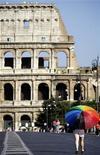 <p>Una giornata di solleone a Roma. REUTERS/Alessandro Bianchi</p>