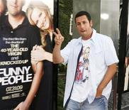 """<p>Actor Adam Sandler poses at the premiere of his new comedy film """"Funny People"""" in Hollywood July 20, 2009. REUTERS/Fred Prouser</p>"""