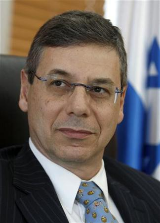 Israel's Deputy Foreign Minister Danny Ayalon sits in his office during an interview with Reuters in Jerusalem April 20, 2009. REUTERS/Ammar Awad