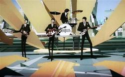 """<p>Cena do videogame """"The Beatles: Rock Band"""". O jogo irá incluir clássicos como """"Lucy in the Sky with Diamonds"""" e """"A Hard Day's Night"""". REUTERS/Fred Prouser</p>"""