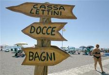 <p>Una spiaggia italiana. REUTERS/Chris Helgren (ITALY)</p>