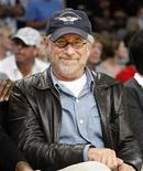 <p>Director Steven Spielberg at a Los Angeles Lakers game, June 10, 2008. REUTERS/Lucy Nicholson</p>