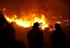 <p>I pompieri tentano di domare le fiamme che minacciano Rancho Palos Verdes. REUTERS/Mario Anzuoni (UNITED STATES ENVIRONMENT DISASTER)</p>