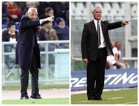 <p>Cambio sulla panchina della Roma: Luciano Spalletti (a sinistra) lascia, arriva Claudio Ranieri (a destra). REUTERS</p>
