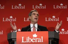 <p>Canada's Liberal leader Michael Ignatieff delivers a speech during the second day of the Liberal caucus summer retreat in Sudbury, Ontario September 1, 2009. REUTERS/Chris Wattie</p>