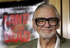 "<p>Director George A. Romero smiles at a special screening of Universal Pictures' ""Land of the Dead"" in the Westwood area of Los Angeles June 20, 2005. REUTERS/Mario Anzuoni</p>"