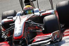 <p>Piloto britânico Lewis Hamilton largará na frente no GP da Itália de Fórmula 1. REUTERS/Max Rossi</p>