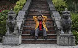 <p>Oh Eun-sun intervistata da Reuters a Kathmandu. NEPAL-KOREA/CLIMBING REUTERS/Gopal Chitrakar (NEPAL SPORT SOCIETY)</p>