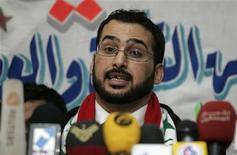 <p>Muntazer al-Zaidi nel corso della conferenza stampa seguita alla sua liberazione. REUTERS/Mohammed Ameen (IRAQ CONFLICT CRIME LAW POLITICS)</p>
