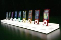<p>Degli iPod nano presentati a San Francisco. REUTERS/Robert Galbraith</p>