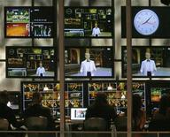 <p>Host Neil Patrick Harris is seen on control room screens during the 61st annual Primetime Emmy Awards in Los Angeles, California September 20, 2009. REUTERS/Mario Anzuoni</p>