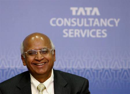 S. Ramadorai, chief executive of Tata Consultancy Services (TCS), smiles during a news conference in Mumbai in this January 2009 file photo. REUTERS/Arko Datta