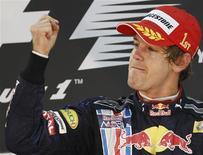 <p>ebastian Vettel, da Red Bull, venceu o primeiro GP de Abu Dhabi e tornou-se vice-campeão da F1. REUTERS/Ahmed Jadallah</p>
