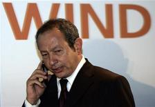 <p>Il proprietario di Wind, il businessman egiziano Naguib Sawiris, in una foto d'archivio. REUTERS/Alessandro Bianchi</p>